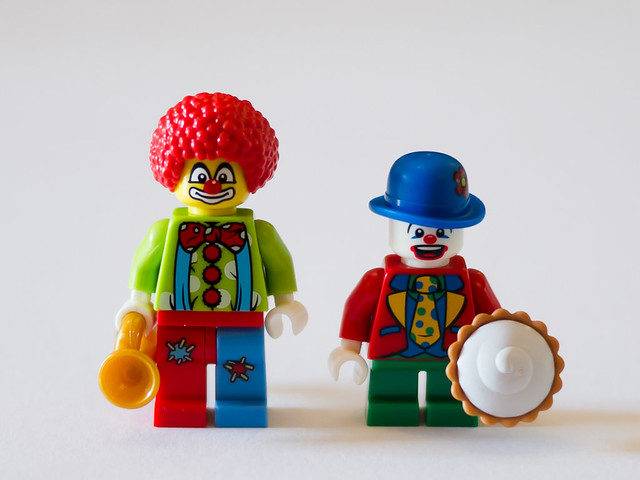 LEGO Series 1 Clown and Series 5 Small Clown