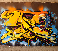INCA   _ UNborN_2_ (SRCARAMELOS) Tags: new colour inca graffiti spain mural paint colours urbanart alicante satan hunter eds th nuevo dans envoy candyman cazador caramelos enviado novedad 2k11