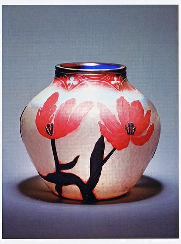 ⑤-2★ポストカードチューリップを描いた花器 ドーム兄弟1895年 by Poran111