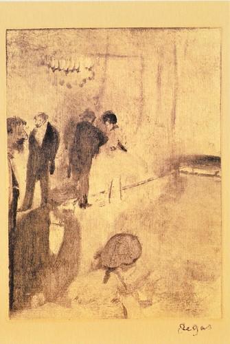★ポストカード③ドガ「オペラ座のホワイエ」1880年頃 by Poran111