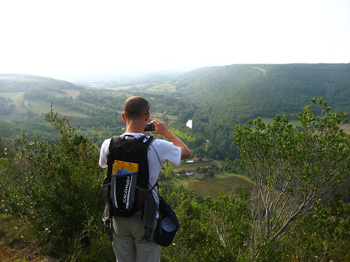Graham taking photos of the Aveyron gorges