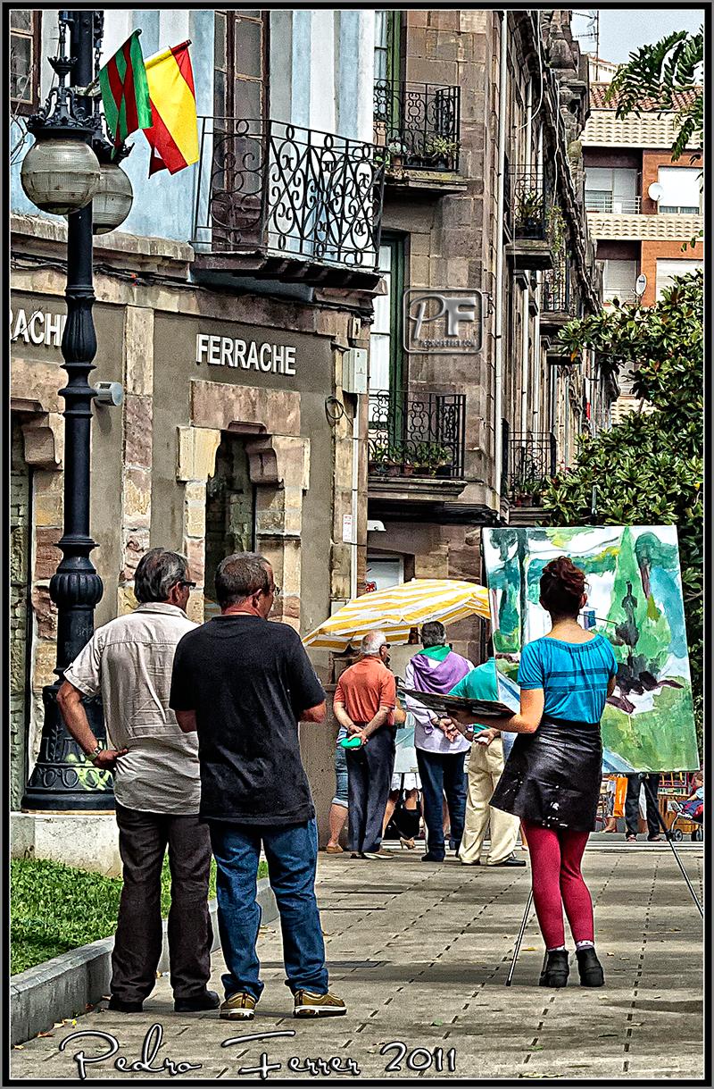 Mirando ¿al cuadro? - Concurso pintura rápida Torrelavega 2011