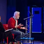 John Byrne on stage