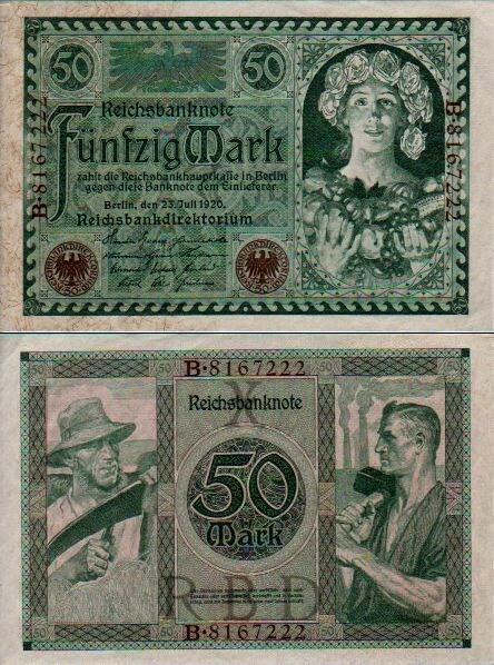 50 Mariek Nemecko 1920, Pick 68