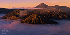 Mount Bromo - East Java, Indonesia (Jesse Estes) Tags: fog sunrise indonesia volcano mountbromo eastjava