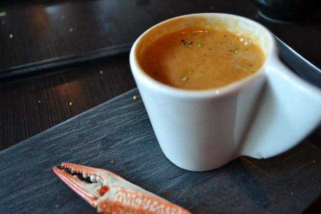 Dozo's Crab Bisque Cappuccino Style