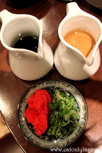 Ponzu and goma sauce, Sakura Japanese Restaurant