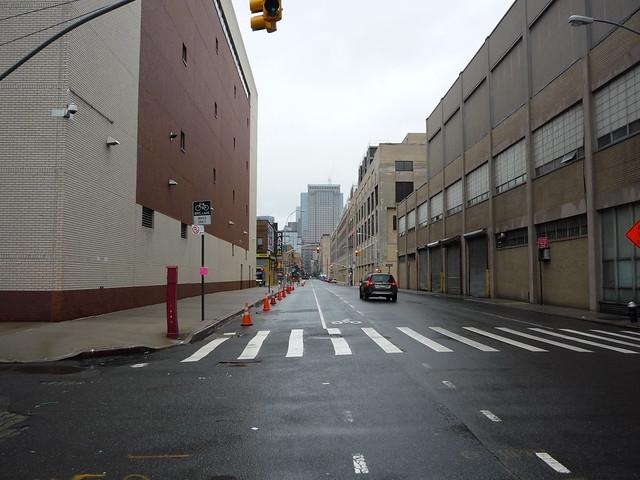 Views of quiet Washington Street in Zone A
