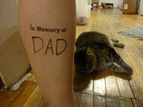 Erica's markings - In Memory of Dad