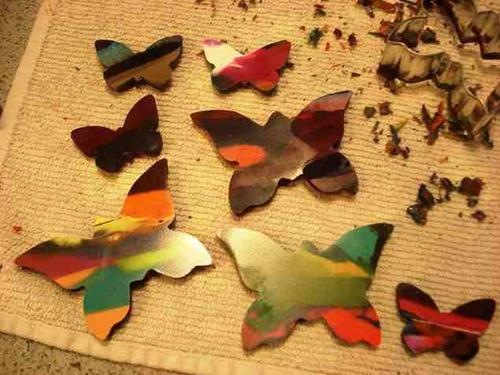 蝶々型クレヨン