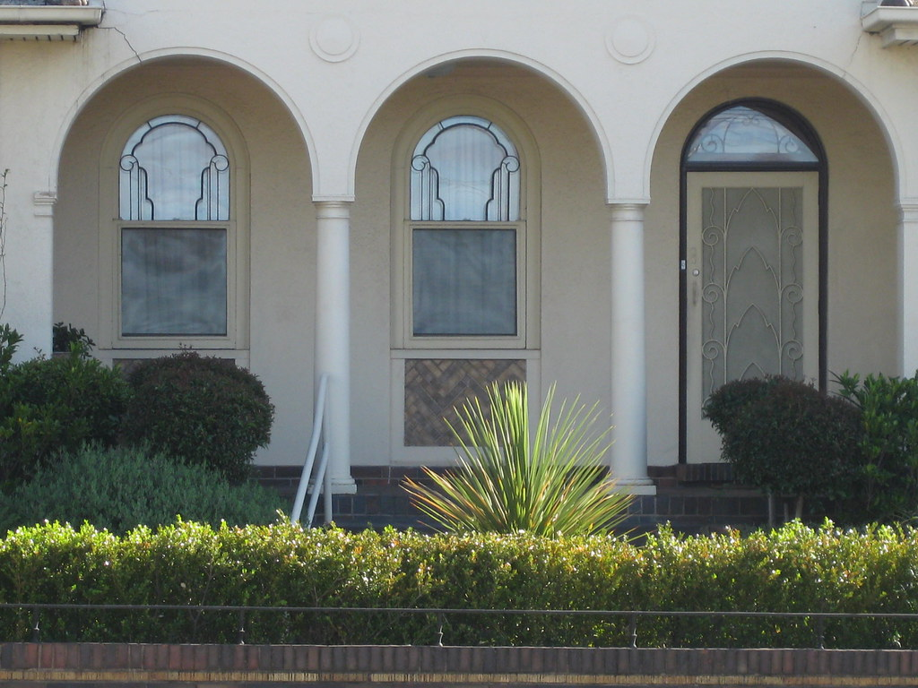 Window and Door Details of a Spanish Mission Style Villa - Essendon