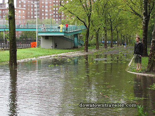 Aftermath of Hurricane Irene in NYC_Flood in East River Park 4