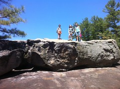 Girls on Big Rock