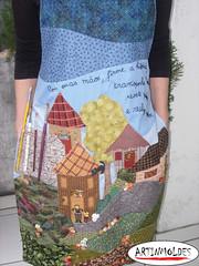 PARA PINTAR E BORDAR (Artinmoldes - Atelier Das Mana) Tags: avental pincel tintas aplique boradado