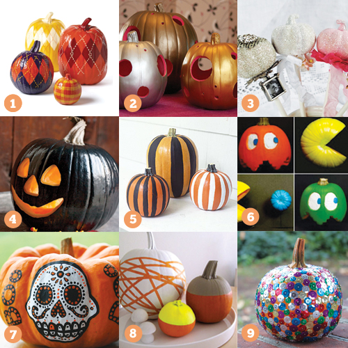 27 cool halloween pumpkin decorating ideas - Decorated Halloween Pumpkins