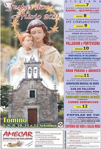 Tomiño 2011 - Festas do Alivio - cartel