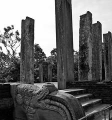 Ancient ruins (~aKaur~) Tags: blackandwhite bw heritage history tourism stone architecture ancient nikon ruins buddhist indian structure unesco worldheritagesite lanka srilanka ceylon pillars anuradhapura subcontinent sinhalese serendip akaur d3000 nikond3000 theancientcities
