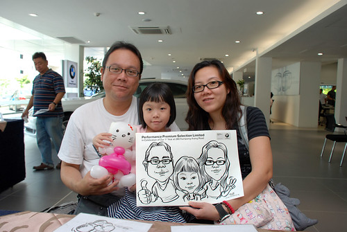 Caricature live sketching for Performance Premium Selection first year anniversary - day 2 - 5
