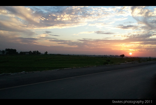 Sunset on Motorway