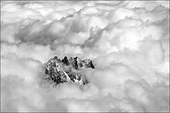 aiguille du midi (heavenuphere) Tags: 2 bw snow france mountains alps clouds alpes landscape climbing alpine chamonix montblanc massif aiguilledumidi hautesavoie rhnealpes chamonixmontblanc tlphriquedelaiguilledumidi