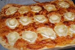 Pizza con queso de cabra