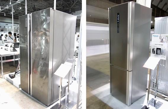左・サムスンの冷蔵庫 左・PANASONICの欧米向け冷蔵庫