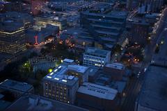 Calgary Cityscape (Calgary, Alberta) (Full Aperture Productions Inc.) Tags: city sky calgary town nikon down aerial scape scraper d700 ca20110829