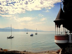 evening in Lutry (mujepa) Tags: lake sailboat switzerland evening boat suisse geneva postcard lac peaceful serenity romantic bateau soir lman voilier vaud romantique lutry paisible doublyniceshot doubleniceshot mygearandme rememberthatmomentlevel1 rememberthatmomentlevel2