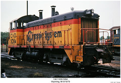 C&O SW9 5084 (Robert W. Thomson) Tags: railroad train diesel michigan railway trains co locomotive wyoming trainengine chessie sw9 switcher switchengine emd chessiesystem chesapeakeohio fouraxle endcabswitcher