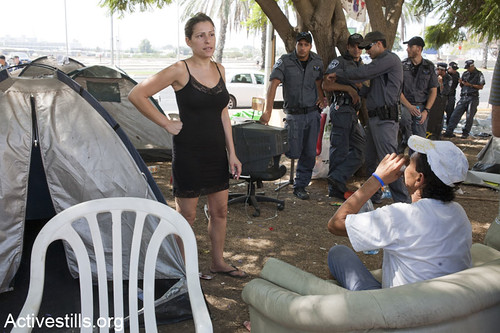 Police evicts the protest camp in Holon, Israel 06/09/11