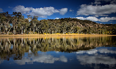 dunns swamp stillwaters (ducktourer) Tags: camping nature water canon reflections landscape outdoors eos scenery kayak australia kayaking nsw paddling waterway inlandwaterway rylstone wolleminationalpark centralwest kandos markhodges wildtrekphotography hdrdunnsswamp