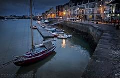 The Quay (camerakiriad) Tags: ireland water night sailboat canon reflections lights evening harbor peaceful quay serene waterford 1740l dungarvan 40d peterburclaffphotographic