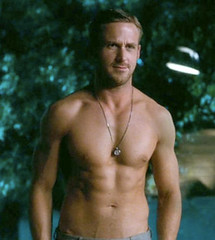 "ryan gosling shirtless screen shot from the movie ""crazy, stupid love"""