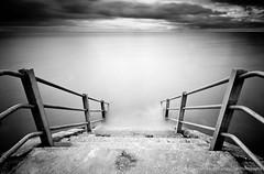 Sea wall steps, Birchington on sea (David Millier) Tags: longexposure bw nd400 neutraldensity birchingtononsea 10stop leefilter nd110 nd1000x bigstopper