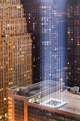 Tribute in Light 2011 VII (laverrue) Tags: 2001 nyc newyorkcity blue light urban ny newyork never skyline club hotel downtown remember anniversary manhattan w worldtradecenter memories 911 beam explore twintowers wtc gothamist 10th september11 reminder groundzero financialcenter batteryparkcity worldfinancialcenter lowermanhattan tributeinlight forget wfc 911memorial freedomtower explored worldtradecenterseven worldtradecenterone