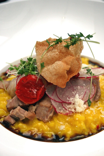 Berkshire Pork Belly Meets Saffron Risotto