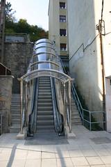 frontal de escaleras mecánicas