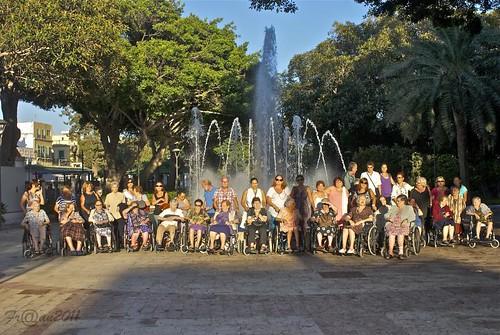Asistencia al desfile de la Patrona de Melilla del personal residente en La Gota Leche