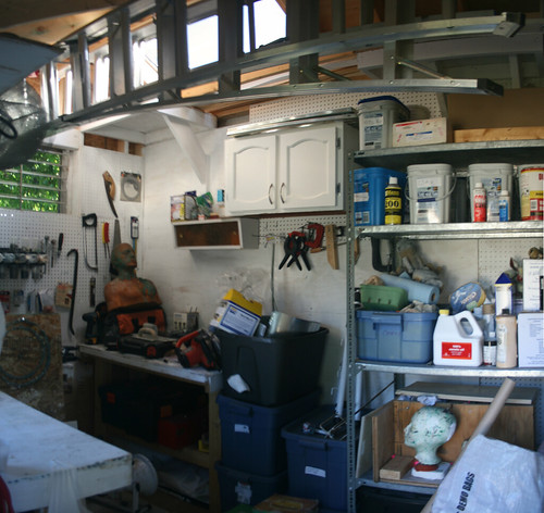 My workshop - a shed built in the backyard