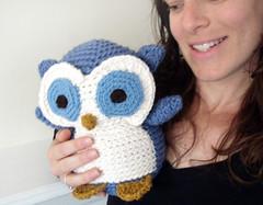 cutie owl! (freshstitches) Tags: animal woodland stuffed handmade crochet plush owl amigurumi