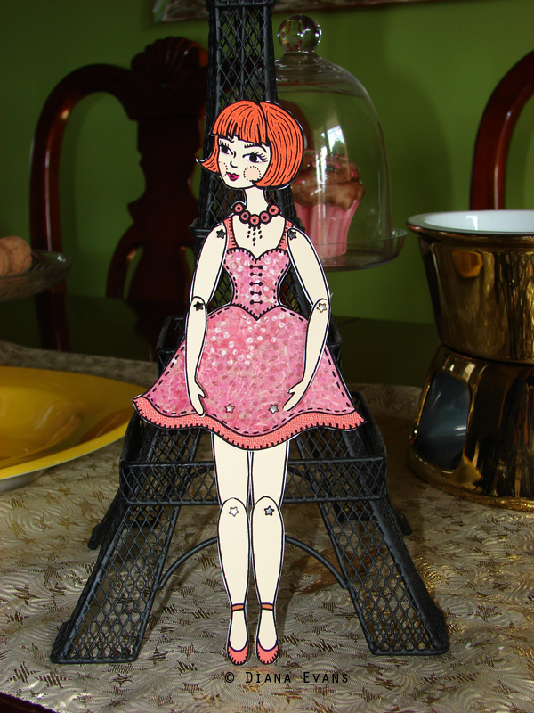 red head paper doll 7