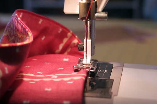 sew along the entire perimeter of the scarf