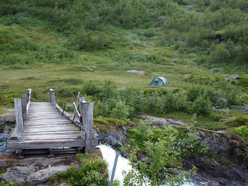 Our tent close to Myrdal
