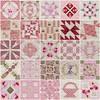 Dear Jane 5x5 Mosaic - Pink and Red (Minkas Studio) Tags: pink red baby hand quilt jane mosaic virtual block piece dear handpieced djq virtualquilt