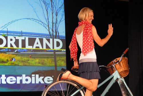 Interbike Fashion Show, Polka Dot Scarf, Cruiser