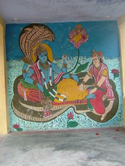 Inside the Nag Temple (dozafar) Tags: vishnu lakshmi hindutemple sheshnag uttarkashi uttarakhand hindupainting tiloth nagtemple