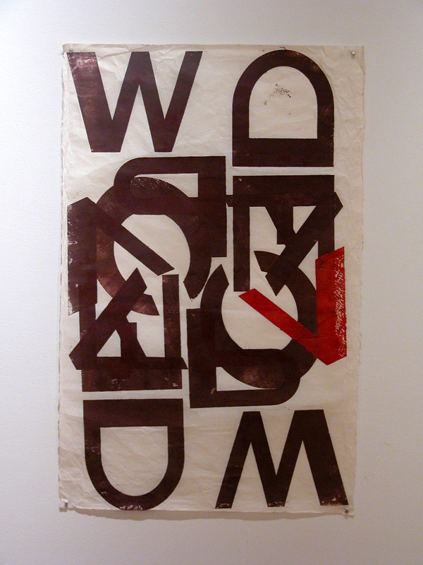 Robin McDowell Large Wood Type Poster
