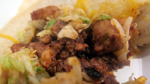 spicy pork taco at omg tacos