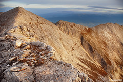 longing for the red mountain (.:: Maya ::.) Tags: morning light red mountain nature trekking rocks peak bulgaria  marbel  pirin      mayaeye mayakarkalicheva    wwwmayaeyecom
