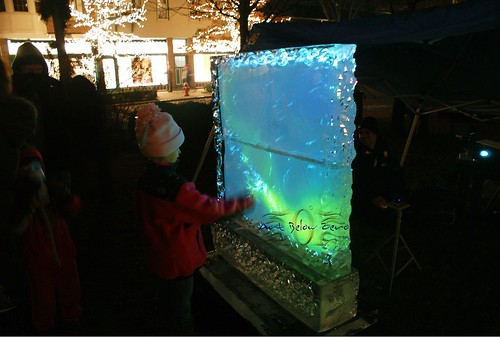 Interactive Ice Wall Ice Sculpture